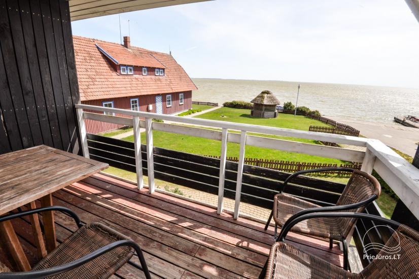 Apartments in Neringa: Terrasse / Balkon mit Blick auf die Lagune, Wi-Fi - 23