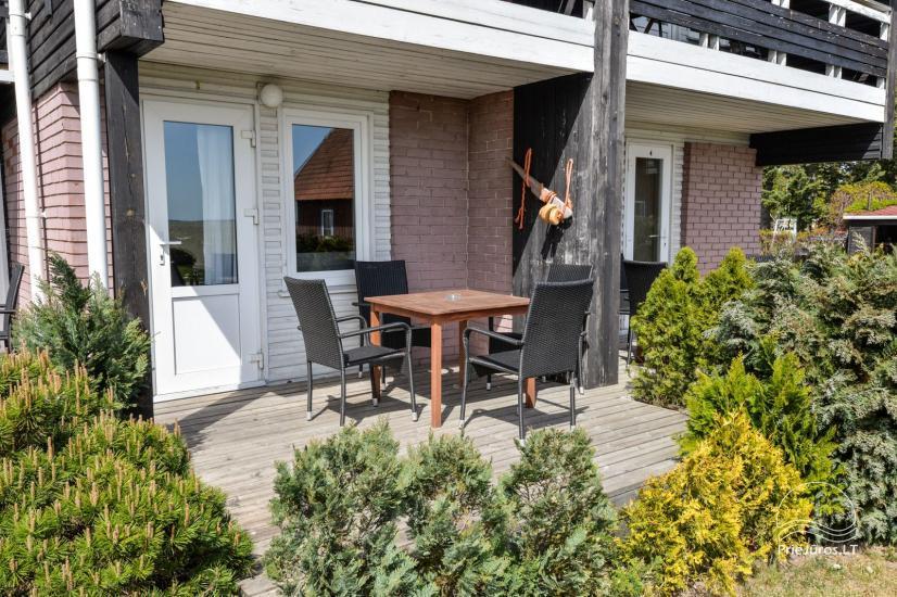 Apartments in Neringa: Terrasse / Balkon mit Blick auf die Lagune, Wi-Fi - 27