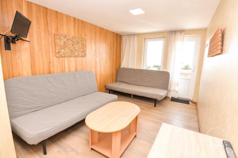 Apartments in Neringa: Terrasse / Balkon mit Blick auf die Lagune, Wi-Fi - 29