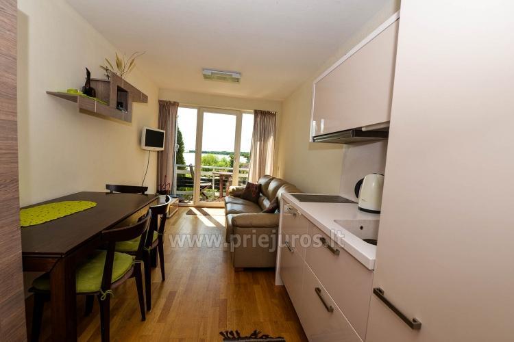 43 m ² modernūs apartamentai ant Kuršių marių kranto. Terasa, vaizdas į marias - 4