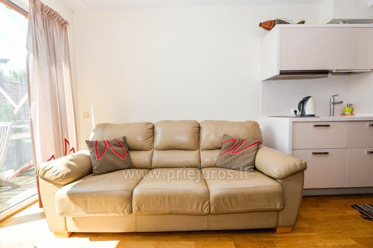 43 m ² modernūs apartamentai ant Kuršių marių kranto. Terasa, vaizdas į marias - 6