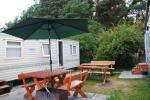 "Wooden bungalows near the Baltic sea""Penguin"""