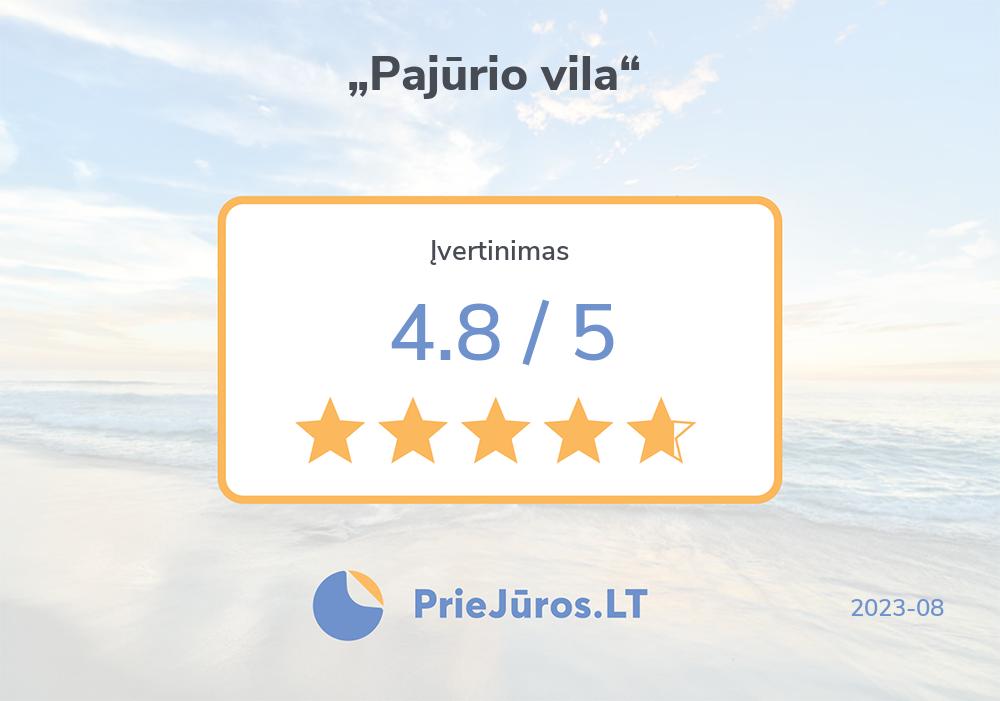 """Holiday makers' reviews – """"Pajūrio vila"""""""