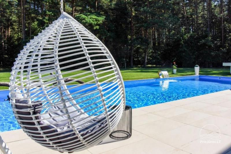 Luxury villa for rent Pusyno Oaze: Jacuzzi, outdoor swimming pool, terrace