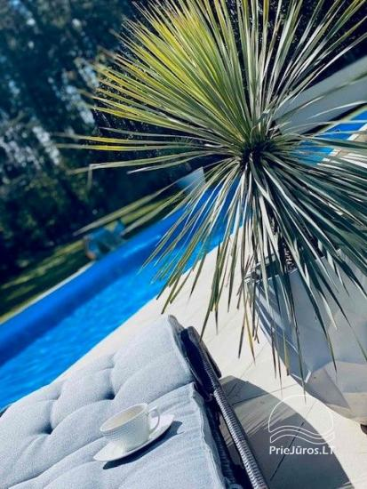 Luxuriös Haus zur Miete Pusyno Oaze: Jacuzzi, Schwimmbad, Terrasse - 12