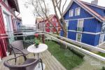 Jaukus 3 aukštų butas Pervalkoje su židiniu, lauko terasa - 4