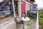 Mājīgs dzīvoklis uz trīs stāvos Pervalka ar kamīnu, terase - 7