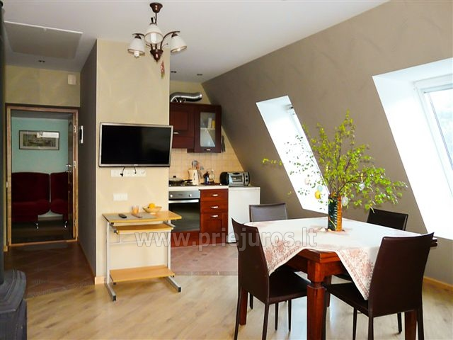 Two rooms apartment with fireplace Nest II for rent in Nida - 2