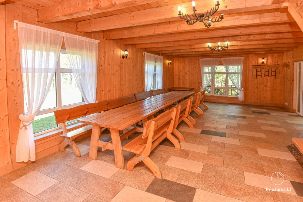 Homestead Lazdininkų pirtis for feasts and vacation: house, banquet hall, sauna, hot tub - 7