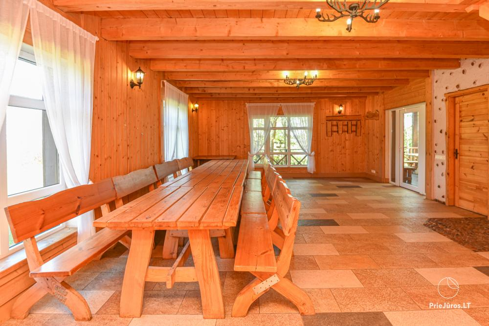 Homestead Lazdininkų pirtis for feasts and vacation: house, banquet hall, sauna, hot tub - 5