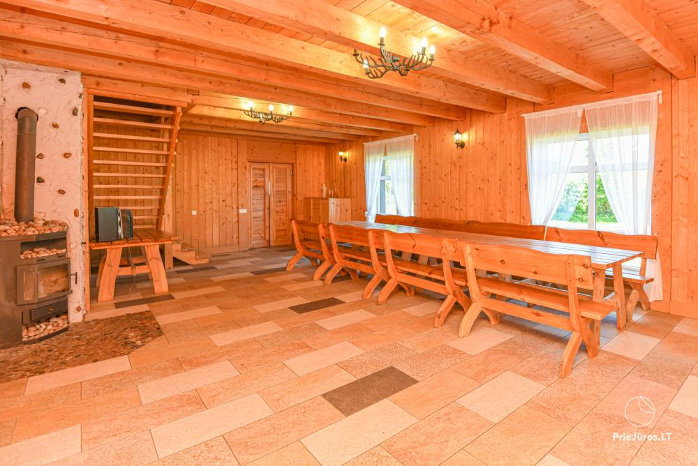 Homestead Lazdininkų pirtis for feasts and vacation: house, banquet hall, sauna, hot tub - 9