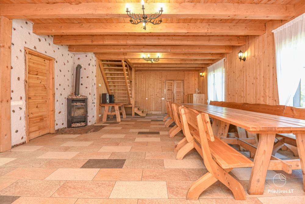 Homestead Lazdininkų pirtis for feasts and vacation: house, banquet hall, sauna, hot tub - 8