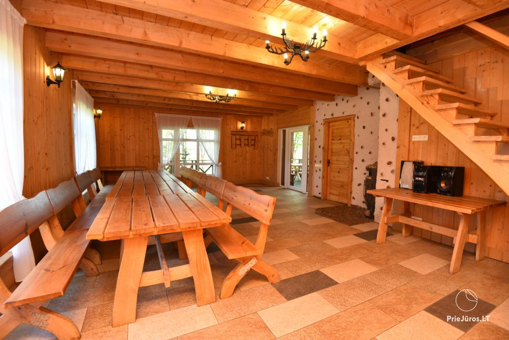 Homestead Lazdininkų pirtis for feasts and vacation: house, banquet hall, sauna, hot tub - 6