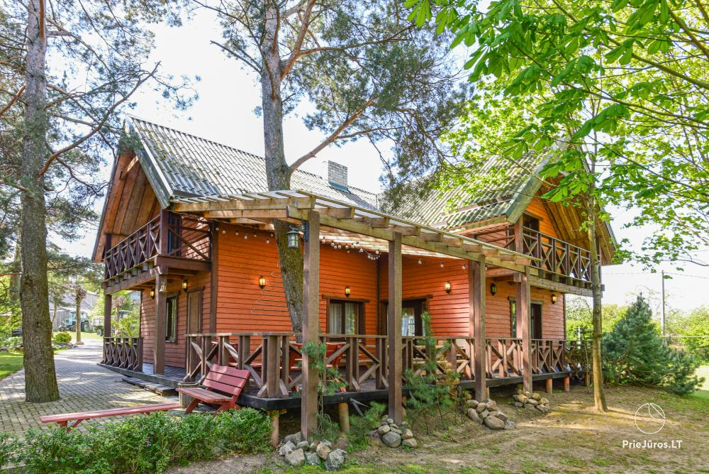Homestead Lazdininkų pirtis for feasts and vacation: house, banquet hall, sauna, hot tub - 1