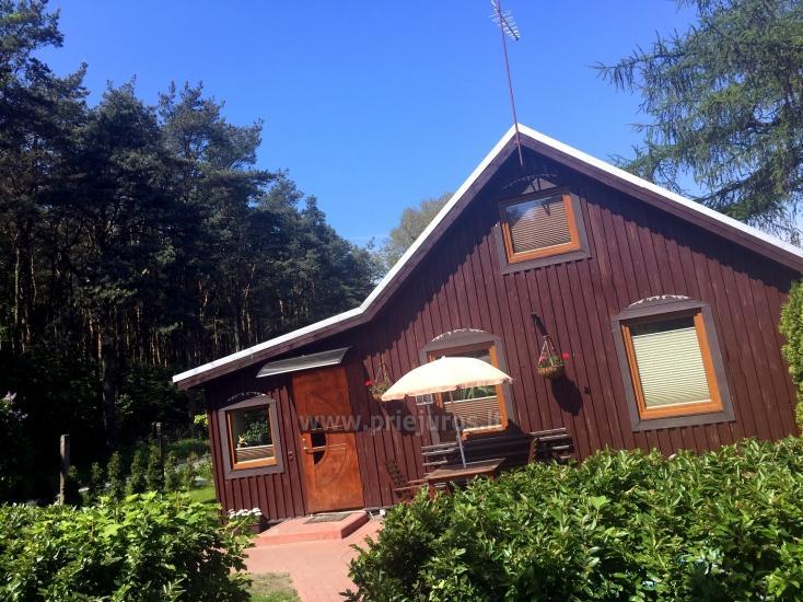Gemütliches Holzhaus zu vermieten in Smiltyne, in der Mitte des Kiefernwaldes - 1