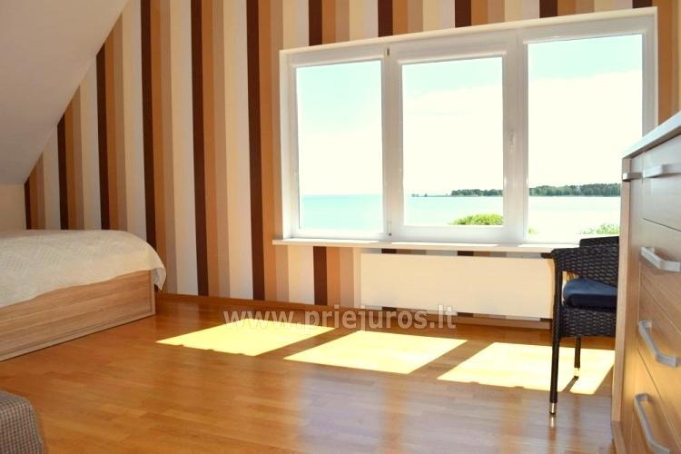 6-ių (8-ių) vietų apartamentai, su dideliu balkonu ant Kuršių marių kranto - 10