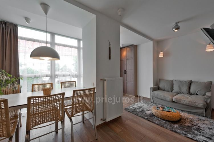 One room apartment with separate entrance for rent in Nida - 7