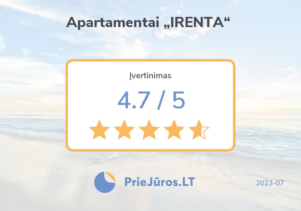"Holiday makers' reviews – Apartamentai ""IRENTA"""