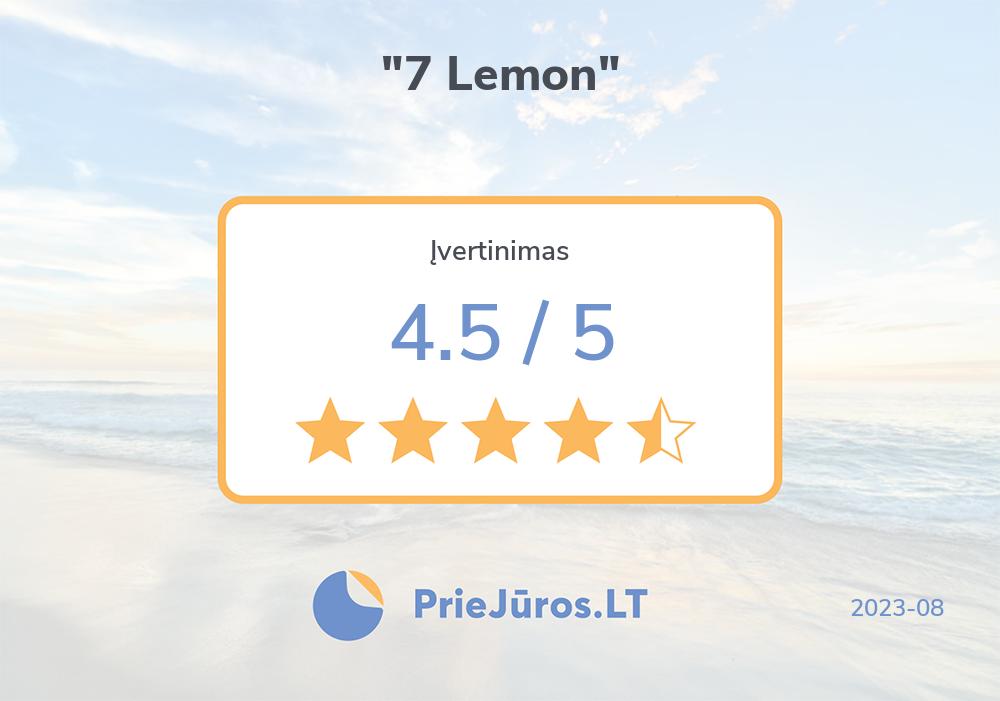 """Poilsiautojų atsiliepimai – """"7 Lemon"""""""