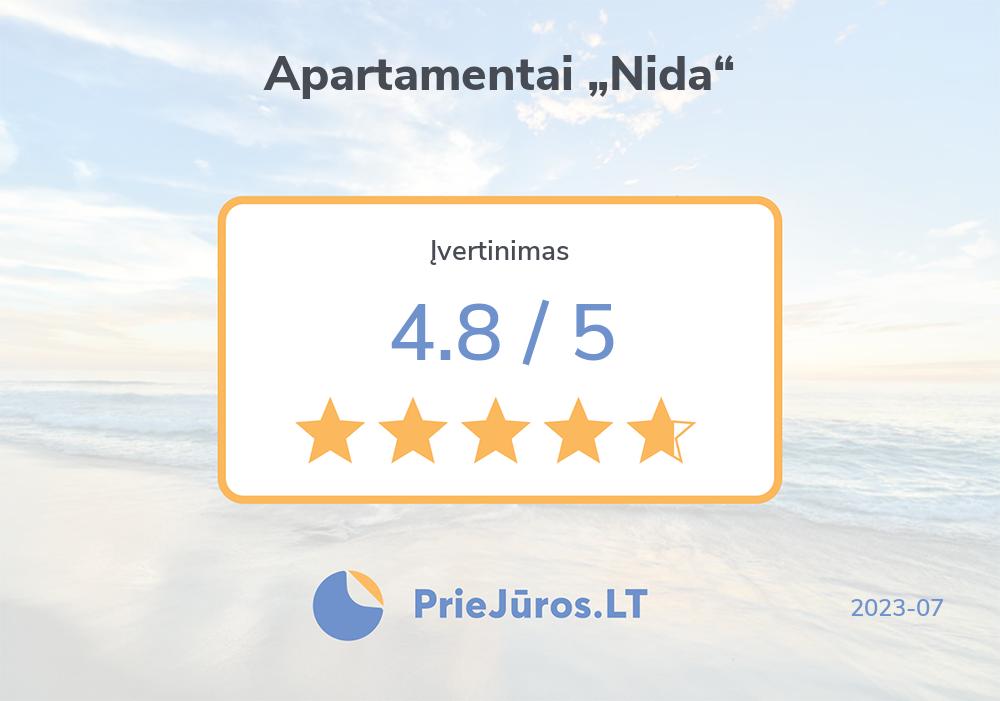 """Poilsiautojų atsiliepimai – Apartamentai """"Nida"""""""