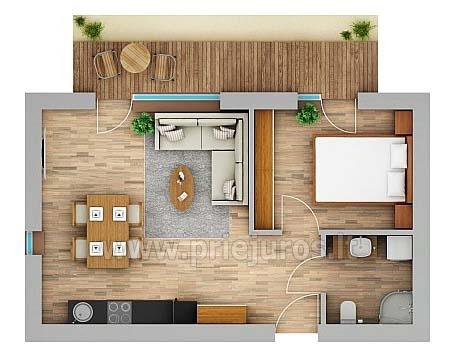 Zwei Zimmer Appartements in Nida, Kurische Nehrung mit Terrasse,Schaukeln - 16