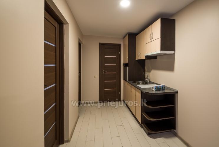 Apartamentai su virtuve, terasa, balkonu