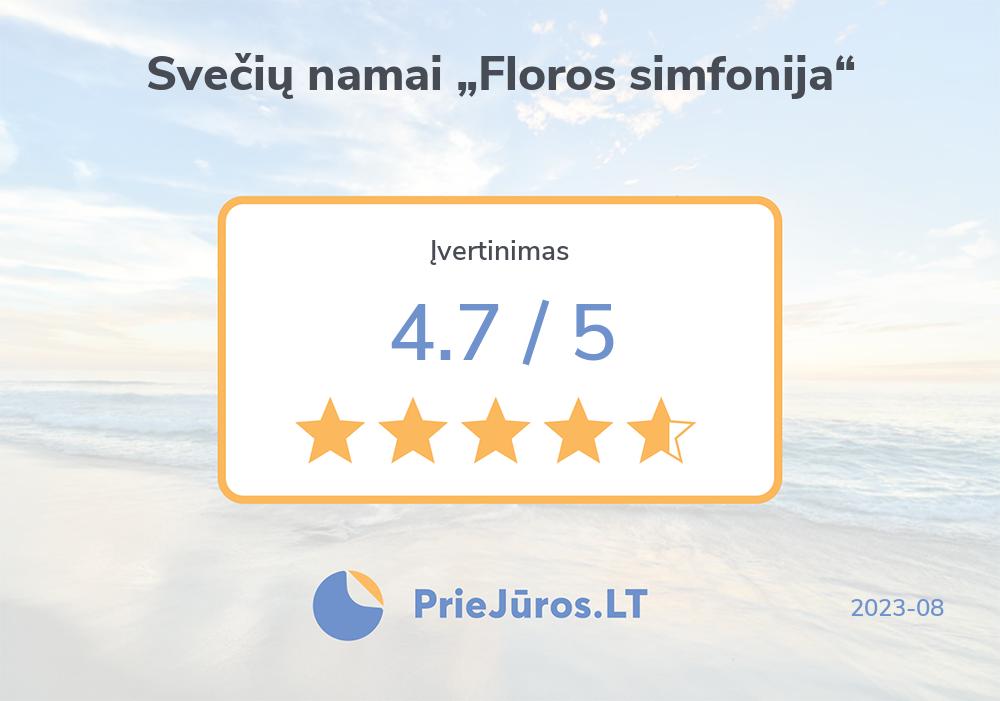 """Holiday makers' reviews – Svečių namai """"Floros simfonija"""""""