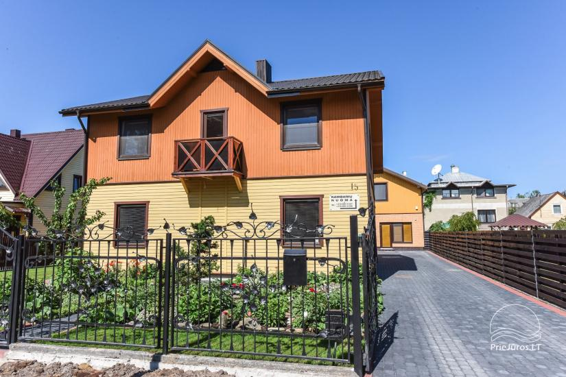 Villa Dalija - HOUSE FOR 2 FAMILIES, modern rooms for 3-4-5-6 persons with kitchens in the old town of Palanga 500 meters from the sea - 1