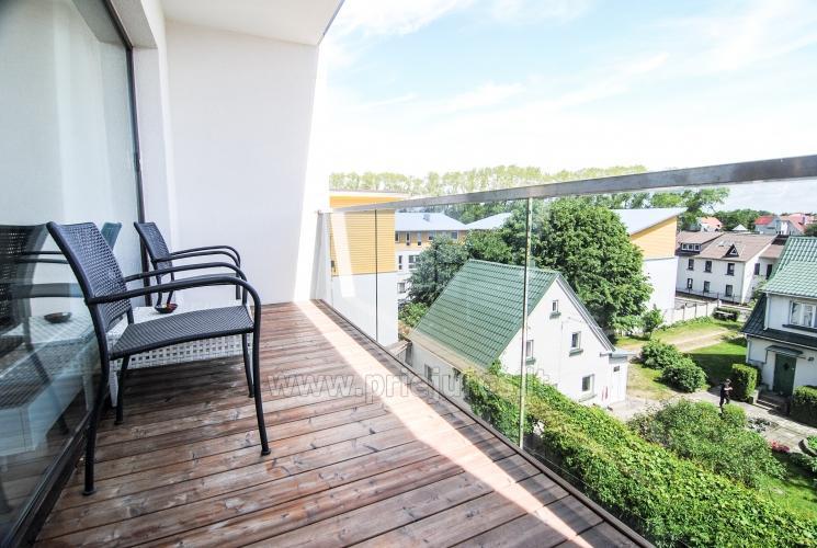 Vieno kambario butas su dideliu balkonu Palangoje - 9