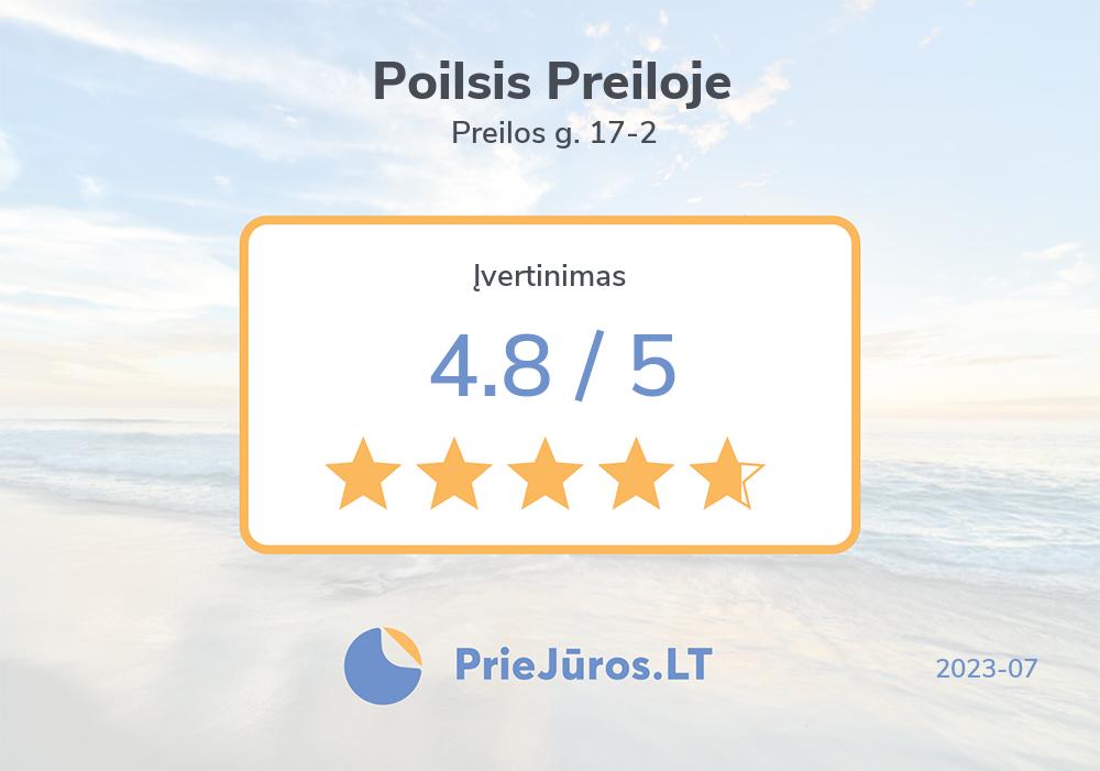 Holiday makers' reviews – Poilsis Preiloje, Preilos g. 17-2