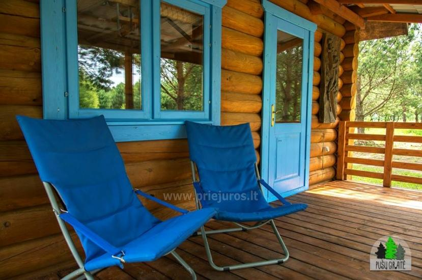 Log villa with sauna for 6-8 persons Pusu giraite - 2