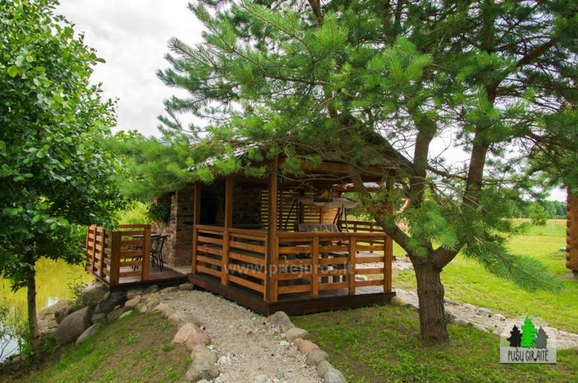 Log villa with sauna for 6-8 persons Pusu giraite - 3