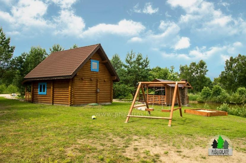 Log villa with sauna for 6-8 persons Pusu giraite - 5