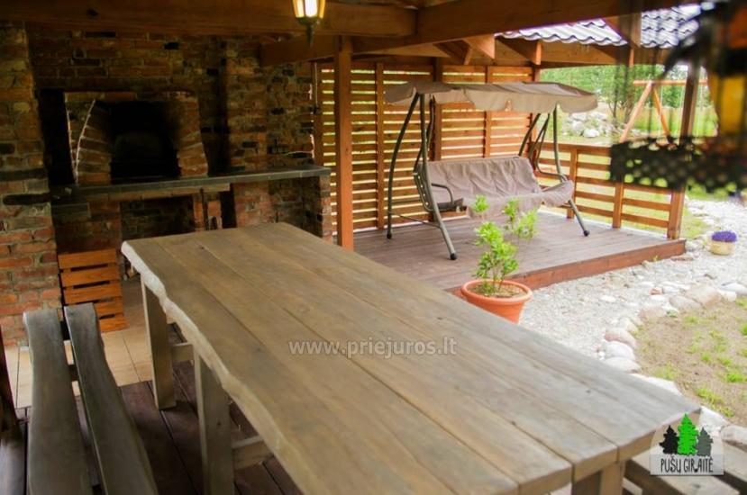 Koka karkasa māja ar saunu 6-8 personām Pusu giraite - 10