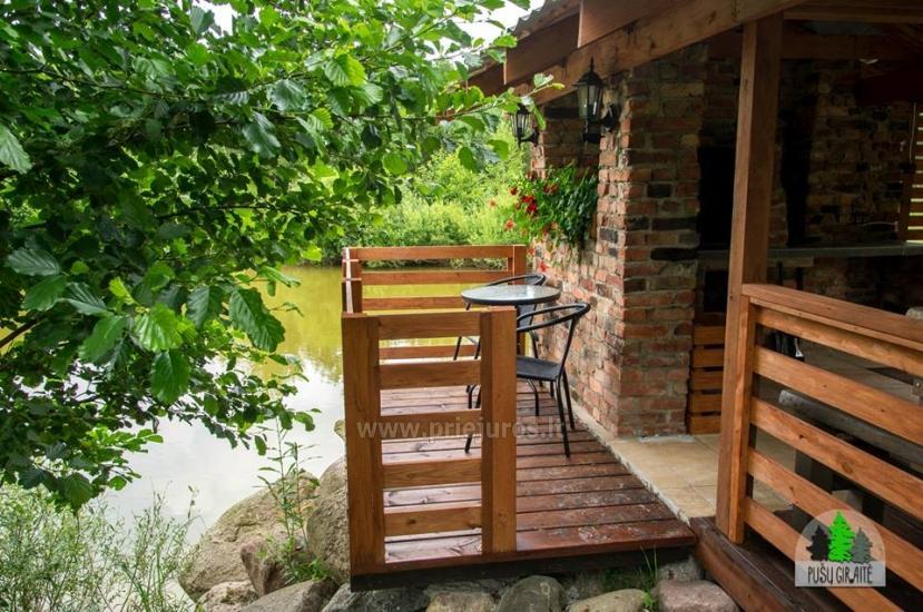 Koka karkasa māja ar saunu 6-8 personām Pusu giraite - 7
