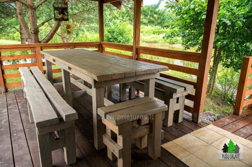 Koka karkasa māja ar saunu 6-8 personām Pusu giraite - 11