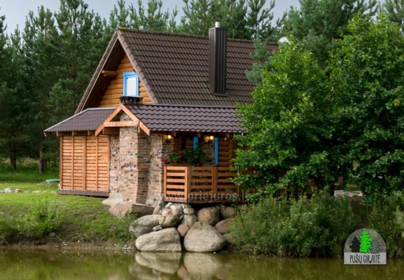 Koka karkasa māja ar saunu 6-8 personām Pusu giraite - 8
