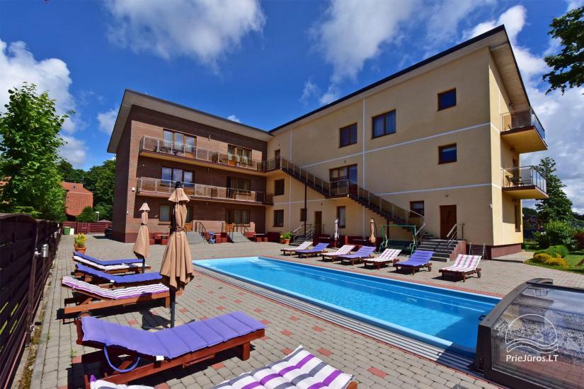 IEVŲ VILLA – komfortablen Apartments und Zimmer, breiten Hof, ein beheiztes Schwimmbad - 1