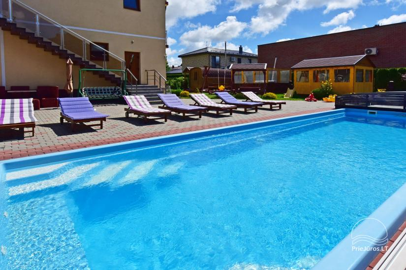 IEVŲ VILLA – komfortablen Apartments und Zimmer, breiten Hof, ein beheiztes Schwimmbad - 7