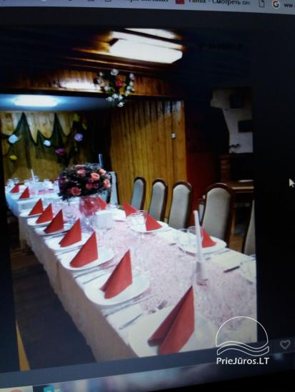Banquet hall, sauna, rooms for rent in Ventė, near the Baltic sea - 4