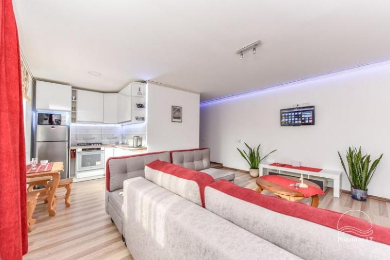 NeriesApartmentai – komfortable einzelnen Wohnungen im Zentrum von Palanga in der Nähe von J. Basanaviciaus Straße und das Meer! Das ganze Ferienhaus in einem Gehöft