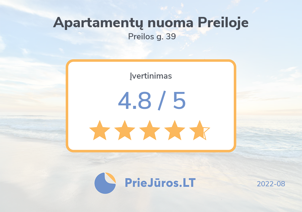 Holiday makers' reviews – Apartamentų nuoma Preiloje, Preilos g. 39