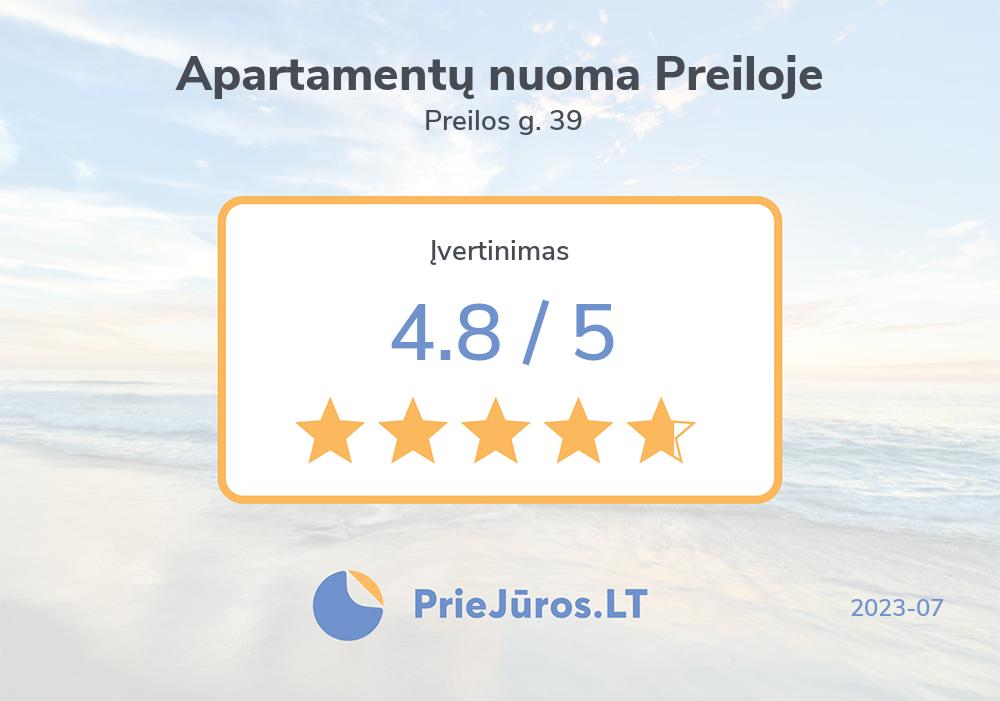 Holiday makers' reviews – Apartamentų nuoma Preiloje, Preilos g. 39
