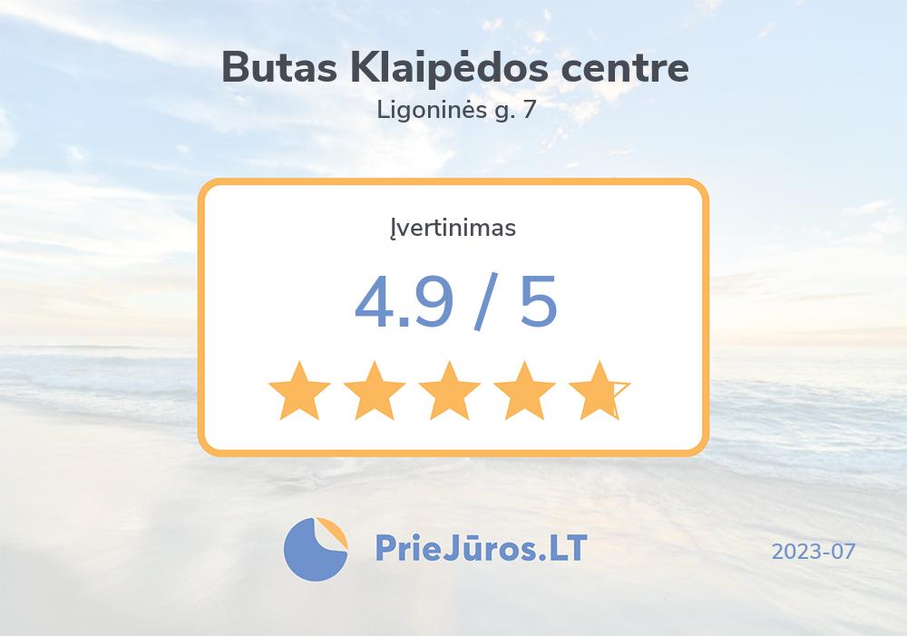 Holiday makers' reviews – Butas Klaipėdos centre, Ligoninės g. 7