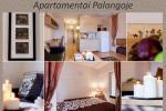 1 istaba, 4 guļvietas dzīvokli īre Palangā