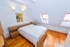Dviejų miegamųjų apartamentai su židiniu, balkonu - 15