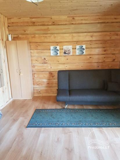 Kambariai naujame rąstiniame namelyje Šventojoje. Labai arti jūros! - 5
