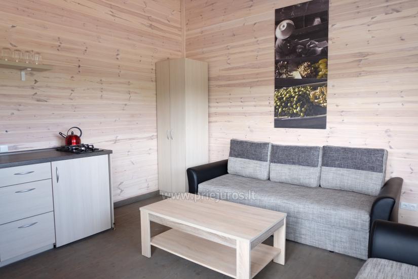 Jaunas vienu i divu istabu koka mājas Sventoji - 5