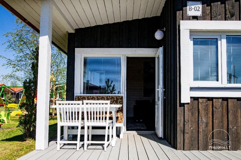 Jaunas vienu i divu istabu koka mājas Sventoji - 18