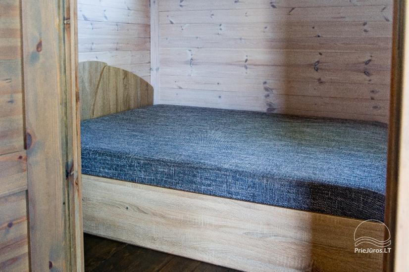 Jaunas vienu i divu istabu koka mājas Sventoji - 25
